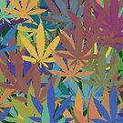 Marijuana Cannabis Weed Pot Abstract by MarijuanaTshirt