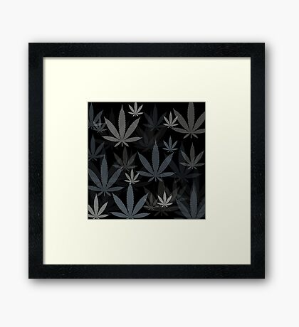 Marijuana Cannabis Weed Pot Winter Colors Framed Print