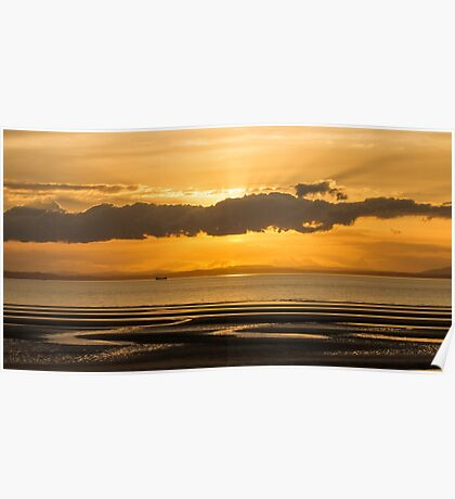 Sunset at Aberlady Poster