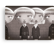 Leave Us Alone! (Village of the Damned) Canvas Print