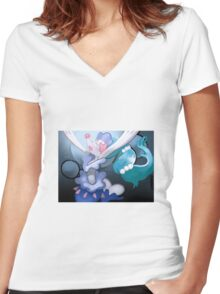 Pokémon - Primarina 3 Women's Fitted V-Neck T-Shirt
