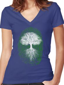 Green Thumb Women's Fitted V-Neck T-Shirt