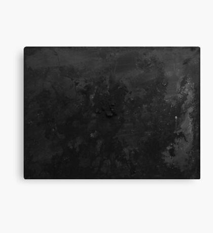 Black - Ink & Acrylic Canvas Print