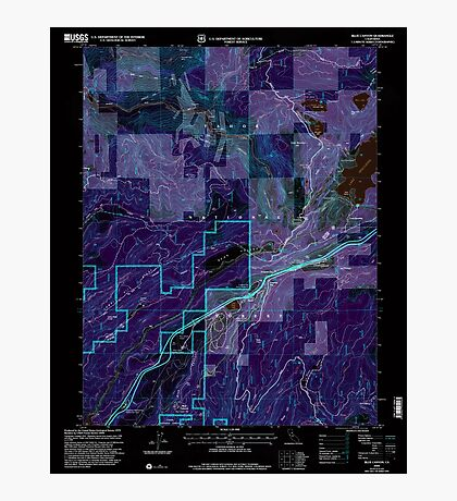 USGS TOPO Map California CA Blue Canyon 100305 2000 24000 geo Inverted Photographic Print