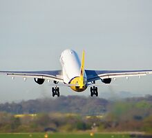 Monarch A330 Departing Manchester Airport by PlaneMad1997
