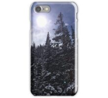 Sunlit Snowy Forest iPhone Case/Skin