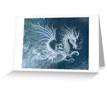 Frost Dragon Greeting Card