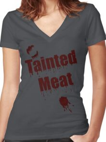 The Walking Dead Tainted Meat Women's Fitted V-Neck T-Shirt