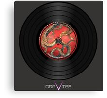 Dragon Vinyl Record Canvas Print