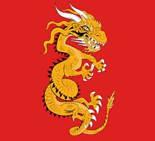 Golden Dragon on Red Unisex T-Shirt
