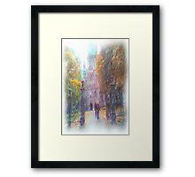 Nidaros photo paint Framed Print