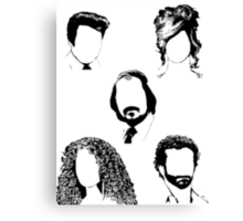 American Hustle Hair Hair Hair Canvas Print