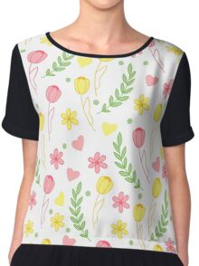 Spring and Tulip Chiffon Top