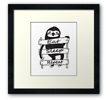 Funny sloth t-shirt and more Framed Print