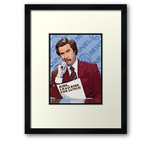Ron Burgundy - Ribs Framed Print