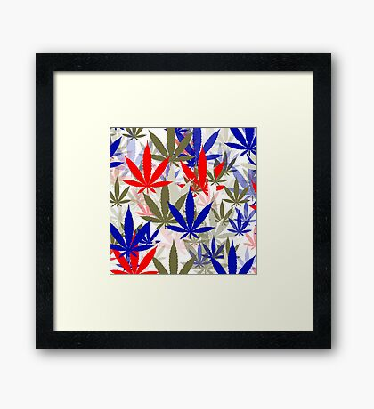 Marijuana Cannabis Weed Pot Independence Day Framed Print