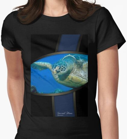 honu sacred Womens Fitted T-Shirt
