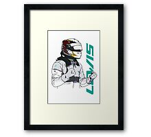 Lewis Hamilton Framed Print