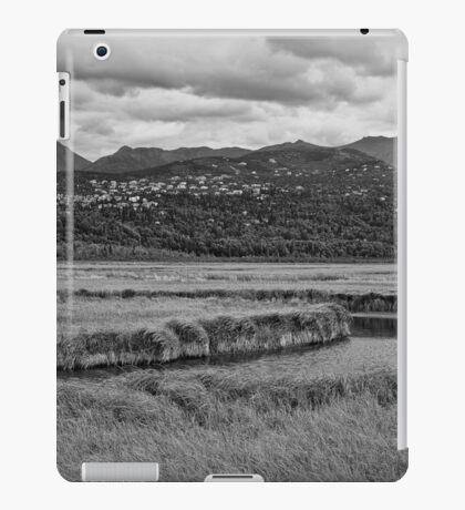 Potter Marsh Alaska BW iPad Case/Skin