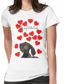 Glossy Grizzly Be my valentine Womens Fitted T-Shirt