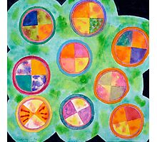 Mixed Colorful Colors in Circles  Photographic Print