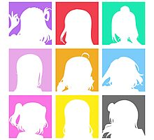 Aqours Character Icons (Love Live! Sunshine!!) Photographic Print