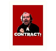 A CONTRACT! The Shining Art Print