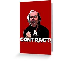 A CONTRACT! The Shining Greeting Card