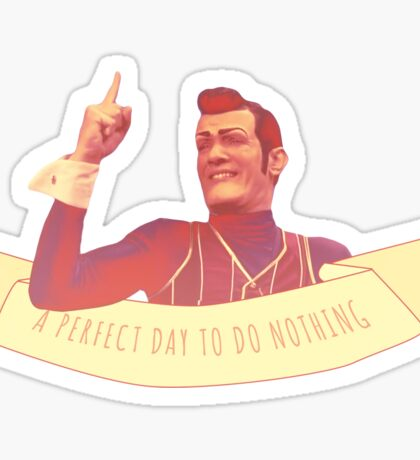 A Perfect Day to do Nothing Sticker