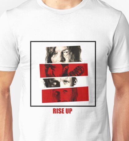 Rise Up - 4 Walking Dead Faces Unisex T-Shirt