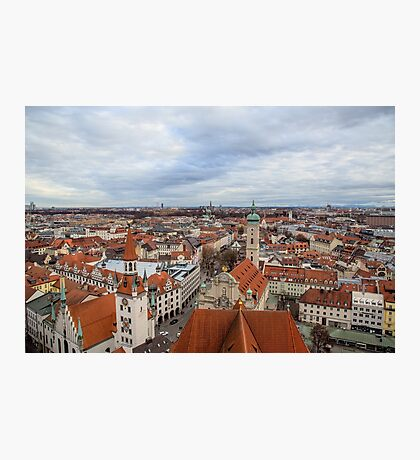 Panorama of the Old Town architecture of Munich, Bavaria, Germany Photographic Print