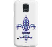 Blue Fleur de Lis Samsung Galaxy Case/Skin
