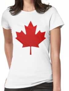 Canada is happening Womens Fitted T-Shirt