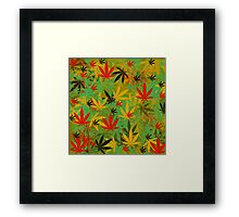 Marijuana Cannabis Weed Pot Rasta Style Framed Print