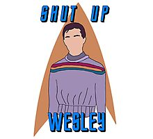 "Wesley Crusher - ""Shut Up Wesley"" - Star Trek the Next Generation Photographic Print"