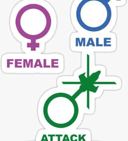 Attack Helicopter Gender Sticker