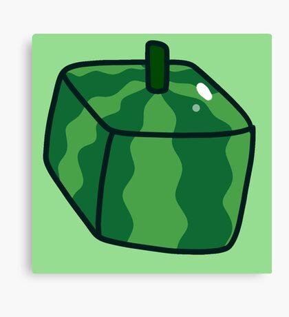 Watermelon Cube Canvas Print