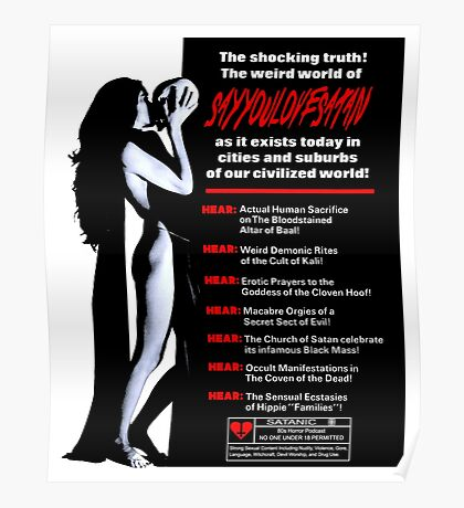 Say You Love Satan 80s Horror Podcast - Cult Poster