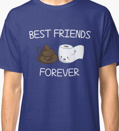 Best Friends Forever Poop Emoji T-shirt Cool Emoticon Tshirt Classic T-Shirt