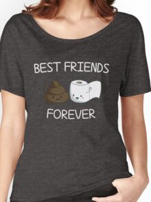 Best Friends Forever Poop Emoji T-shirt Cool Emoticon Tshirt Women's Relaxed Fit T-Shirt
