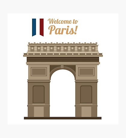 Paris Travel. Famous Place - Arc of Triomphe Photographic Print