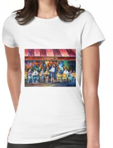 CAFE IN PARIS - Leonid Afremov Womens Fitted T-Shirt