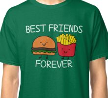 Best Friends Forever T-shirt Cool Hamburger and Fries Potatoes Emoticon Tshirt Classic T-Shirt