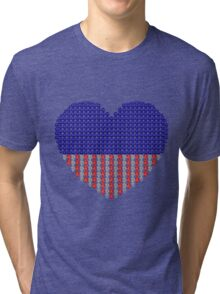 Patriotic Heart Tri-blend T-Shirt