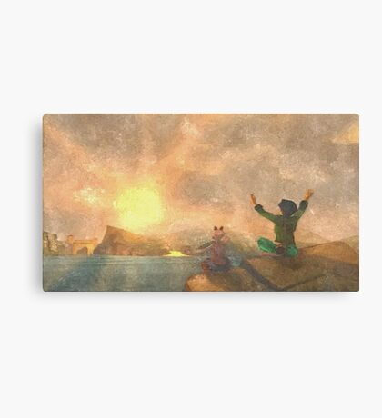 Yoga face to the Sun - 瑜伽面对太阳 Canvas Print