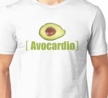 Avocado Cardio Avocardio Photo Vegetable Illustrated Pun for Vegans Vegetarians Funny Unisex T-Shirt
