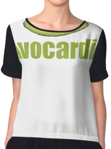 Avocado Cardio Avocardio Photo Vegetable Illustrated Pun for Vegans Vegetarians Funny Chiffon Top