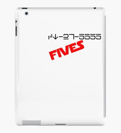 CT-27-5555 Fives. iPad Case/Skin