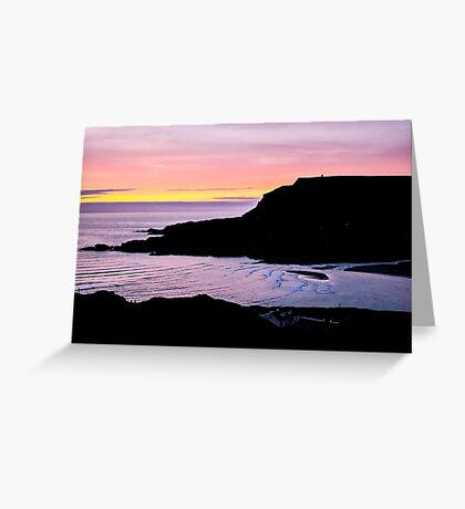 Sunset at Beefan Mountain - Glencolmcille, Ireland Greeting Card
