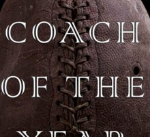 Football Coach of the Year Sticker